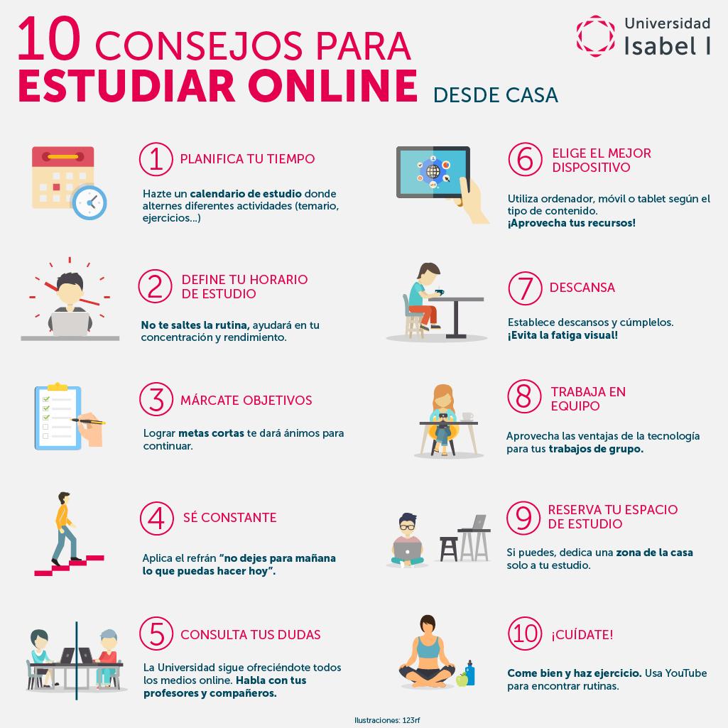 10 consejos estudiar online