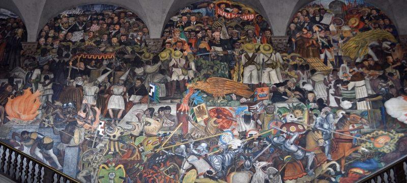 Diego Rivera: Mural de la conquista, Palacio Nacional de Méjico