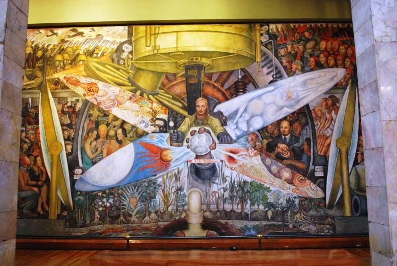 Diego Rivera: Mural del Palacio de Bellas Artes de Méjico (1934).