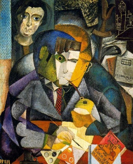 Diego Rivera: Retrato de Ramón Gómez de la Serna (1915). Museo de Arte Latinoamericano de Buenos Aires.