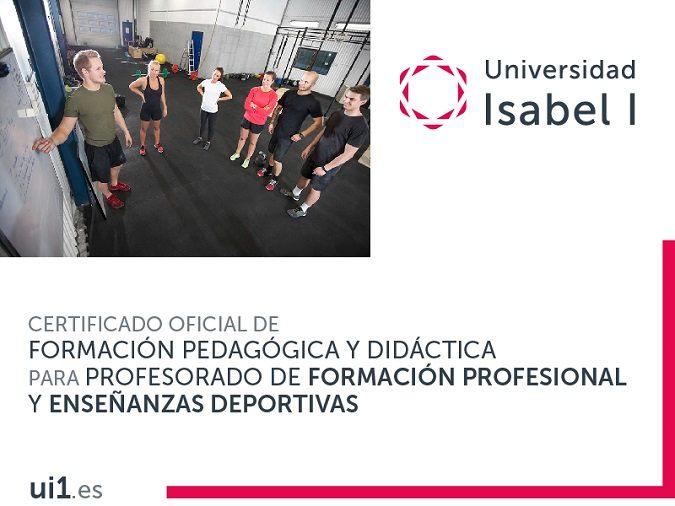 Certificado Oficial de Formación Pedagógica y Didáctica para Profesorado de Formación Profesional