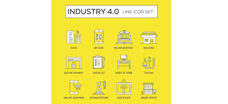 Infografía de imágenes de la industria 4.0