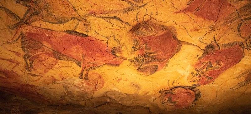 Cueva de Altamira, imagen de los bisontes