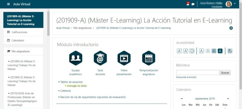 aula virtual aprendizaje