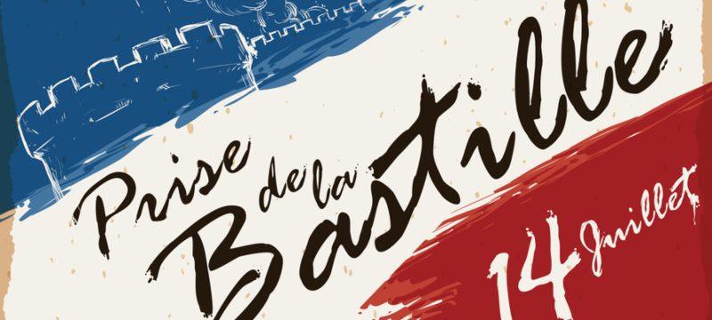 Cartel conmemorativo del día nacional de Francia