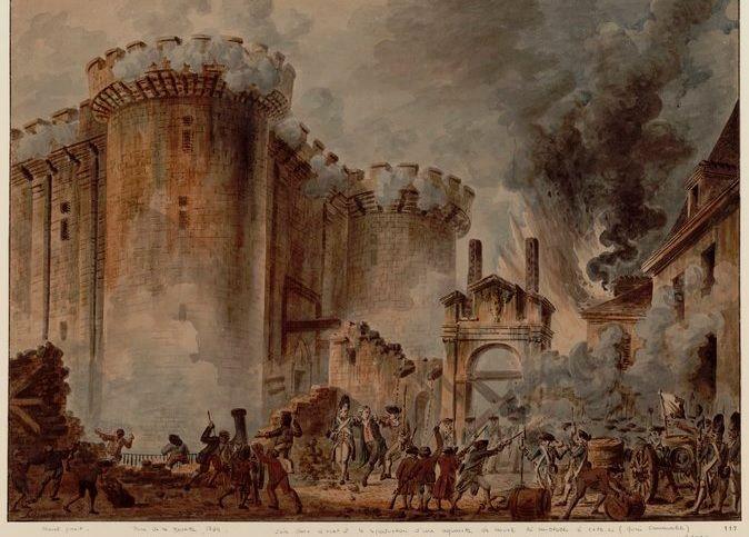 Toma de la Bastilla, cuadro de Jean-Pierre Louis Laurent Houel