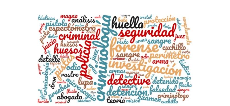 Blog de Serie de Criminología con palabras relacionadas con los crímenes