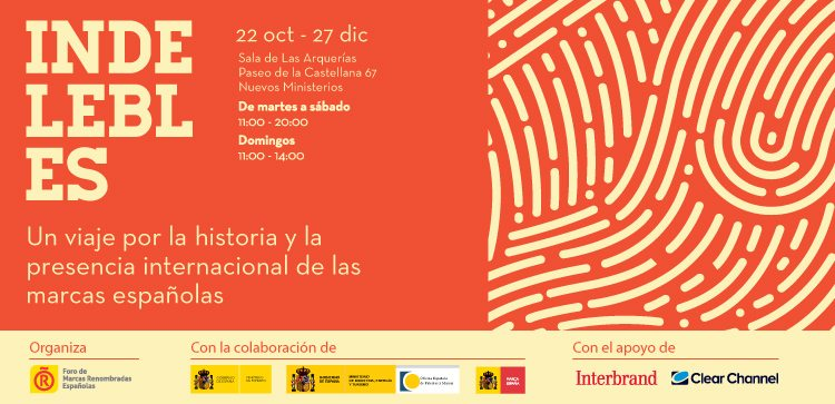 Cartel de la exposición «Indelebles»