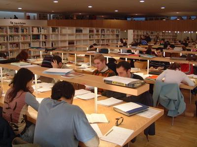 Chicos en biblioteca