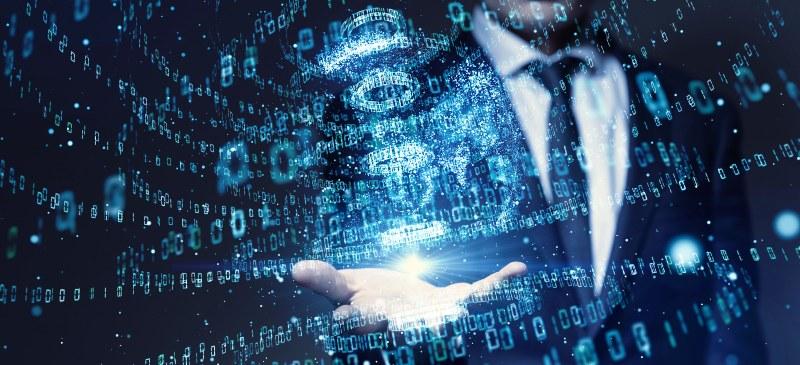 científico de datos, una mano con datos