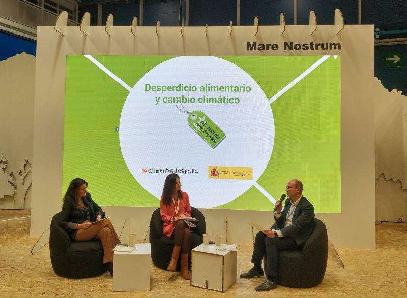 Beatriz Robles durante su intervención en la COP25, en la Jornada Desperdicio Alimentario y Cambio Climático