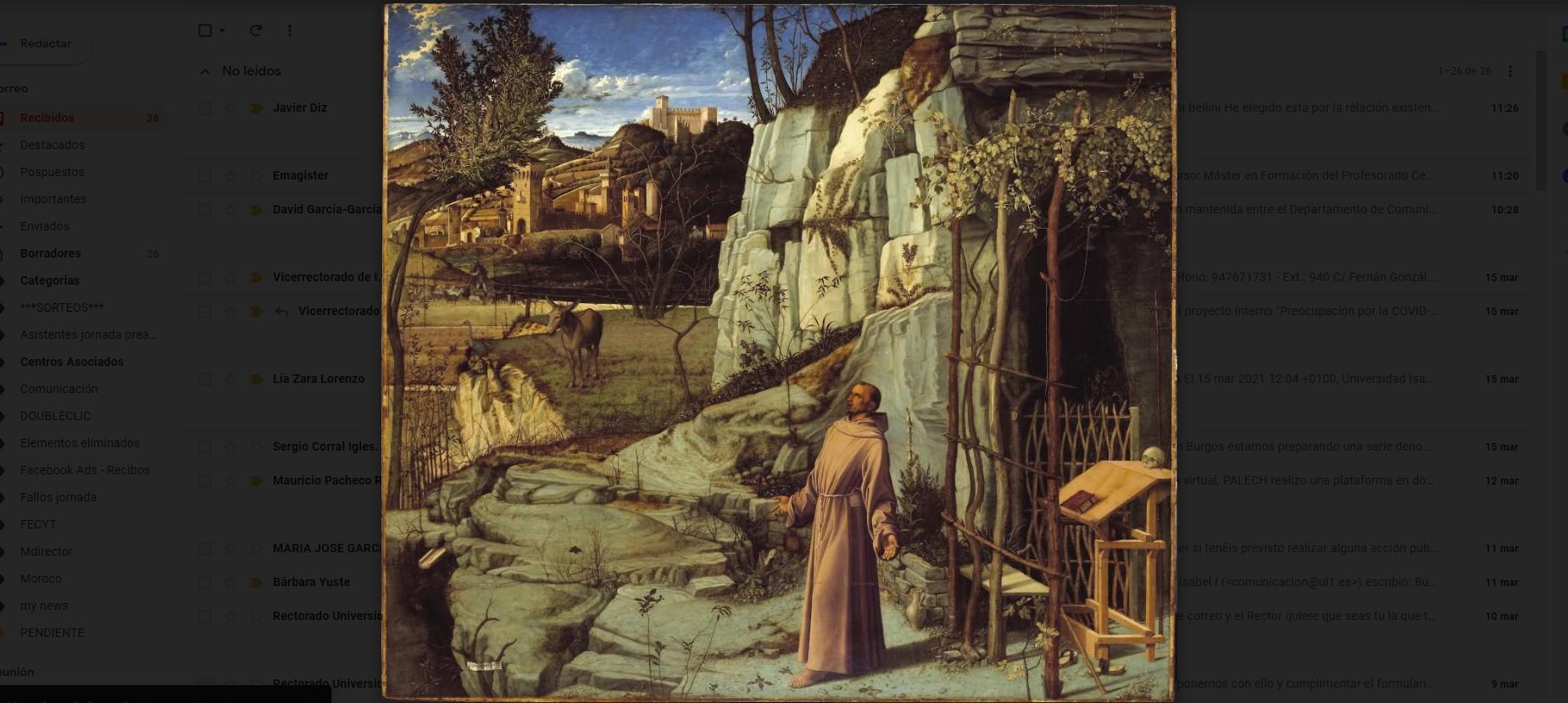 éxtasis de san francisco creado por Giovanni Bellini