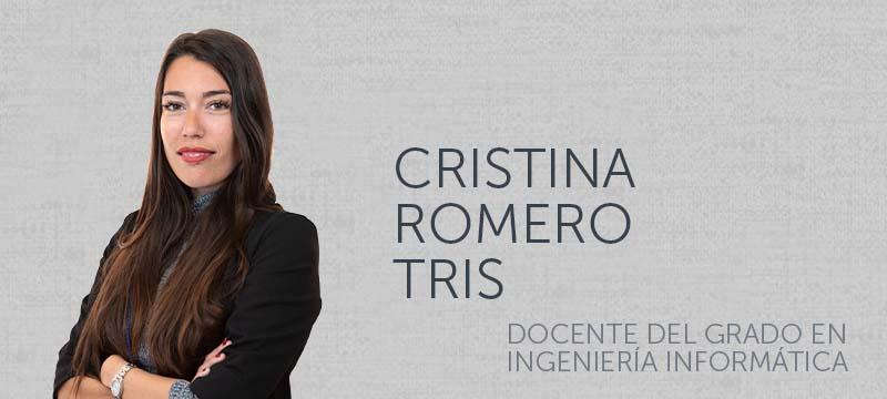 Cristina Romero, profesora del Máster en Ciberseguridad y el Grado en Ingeniería Informática de la Universidad Isabel I