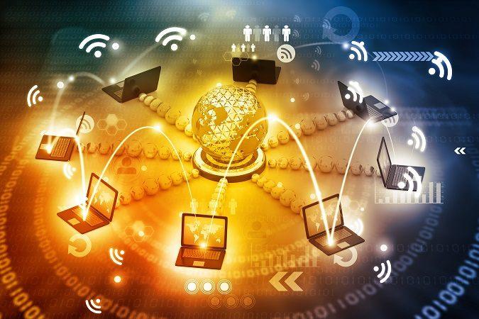 Ordenadores conectados a la red informatica mundial