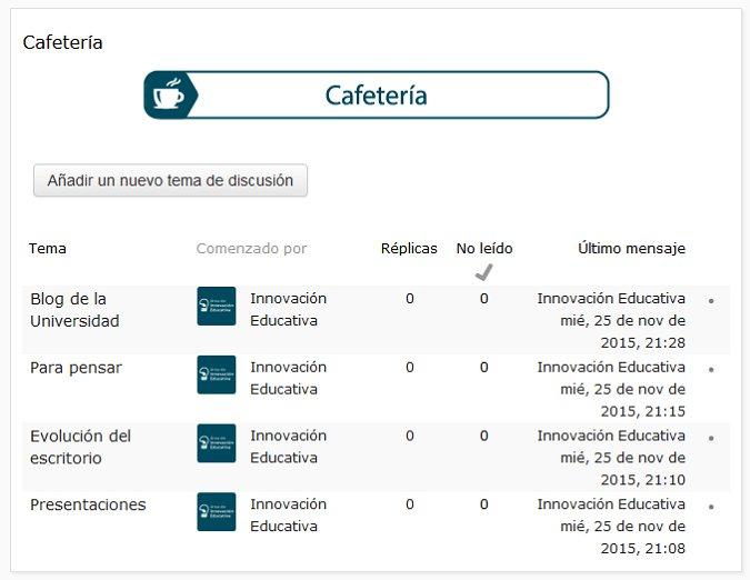 Cafetería Virtual de la Universidad Isabel I