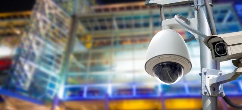 Cámaras de vigilancia en un polígono industrial