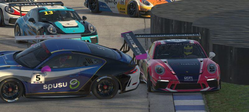El equipo de la Universidad Isabel I en la Porsche eSports Super Cup.
