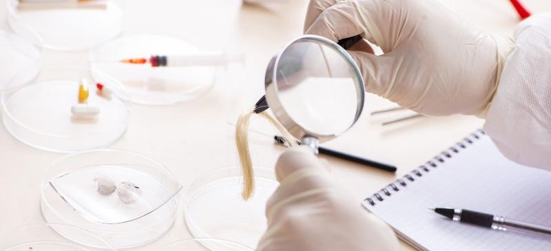 Laboratorio de la Facultad de Criminología de la Universidad Isabel I. Análisis de cabello humano como prueba.