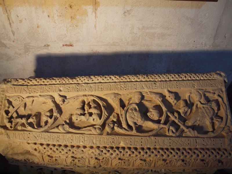 Epitafio sepulcral del infante don Sancho. Las Huelgas. Autor: A. García Morilla.