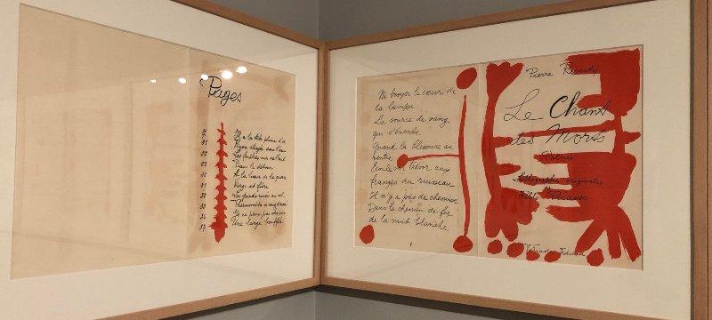 Ilustraciones para Les Chants des Morts de la Fundación Picasso en Málaga.
