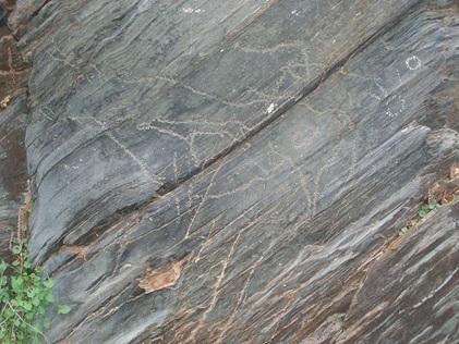 Imagen de uno de los grabados de Siega Verde. Imagen procedente de https://es.wikipedia.org