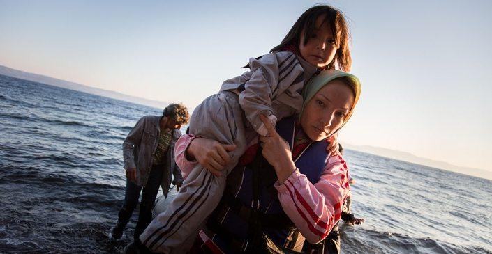Desembarco de refugiadas afganas en Lesbos (Grecia)