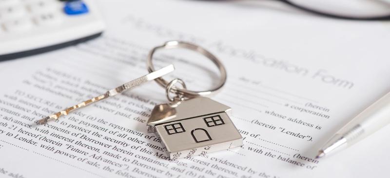Fotografía de un texto con hipoteca