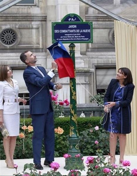 Homenaje presidido por el Ayuntamiento de París y la Corona española