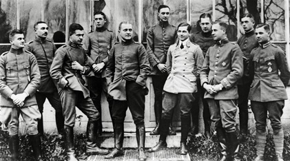 Von Richthofen (en el medio). Fuente: National Geographic