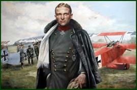 Barón Rojo junto a su avión. Fuente: Ciencia Histórica