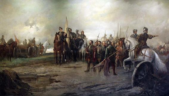 Cuadro de la batalla de Villalar de Manuel Picolo López. Fuente: Wikipedia.org.
