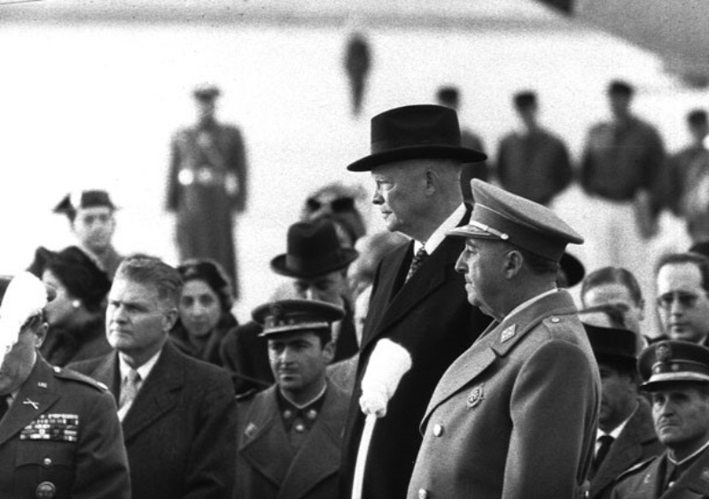 Dwight Eisenhower y Francisco Franco. 1959. Fuente: Wikipedia