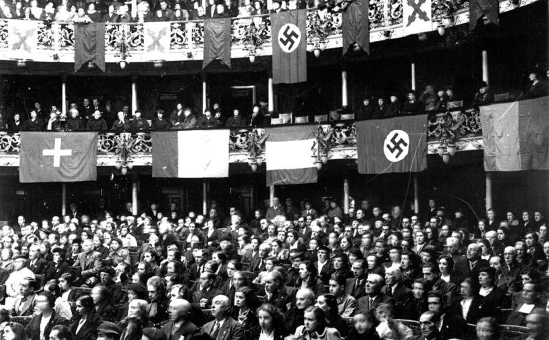 Nazis en Bilbao. Fuente: El Correo.