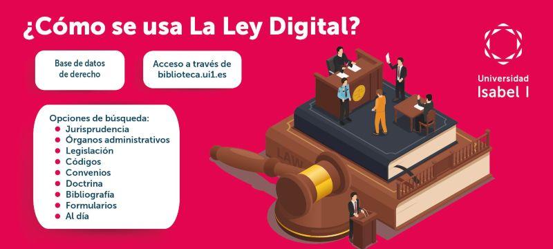 infografía de la base de datos Ley Digital, sobre temas legales
