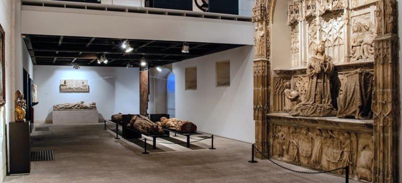 Vista de la sección de Bellas Artes (Gótico), Museo de Burgos. Autora: Elena Martín Martínez de Simón