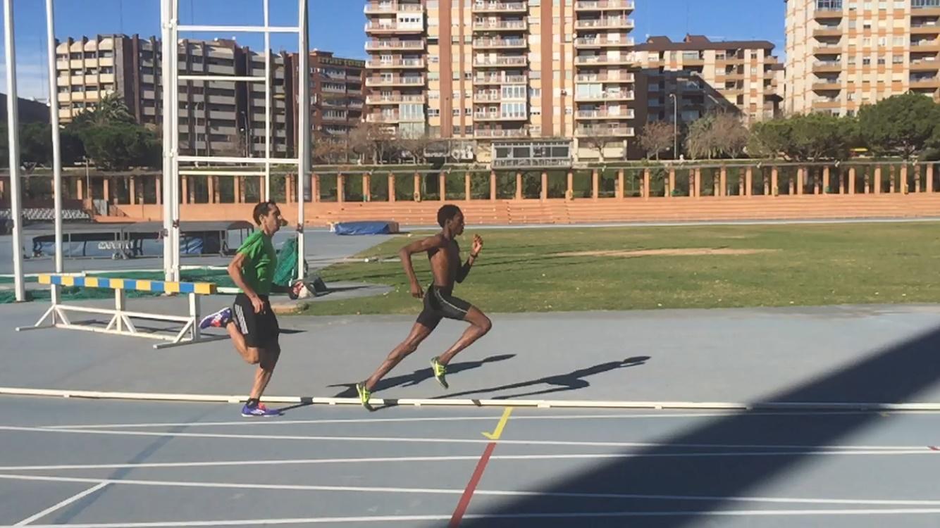 Mauris Castillo y yo entrenando juntos