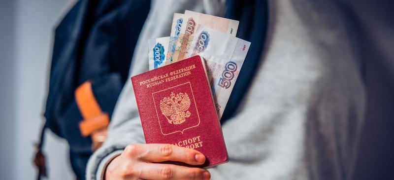 pasaporte y rublos, ejemplo de migración femenina