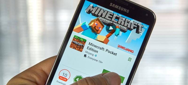Minecraft en el teléfono móvil