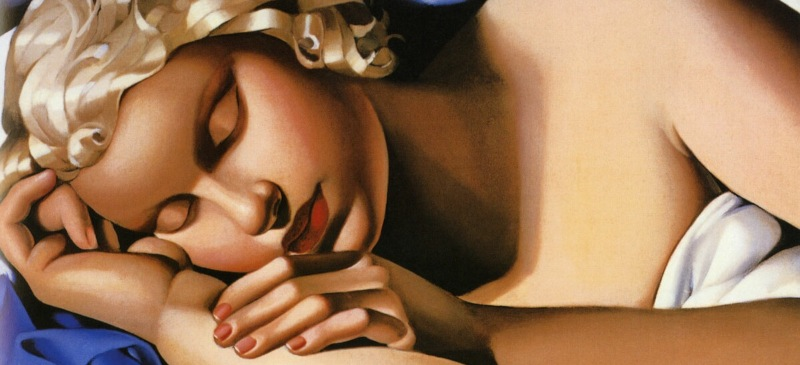 cuadro de mujer adormecida lempicka