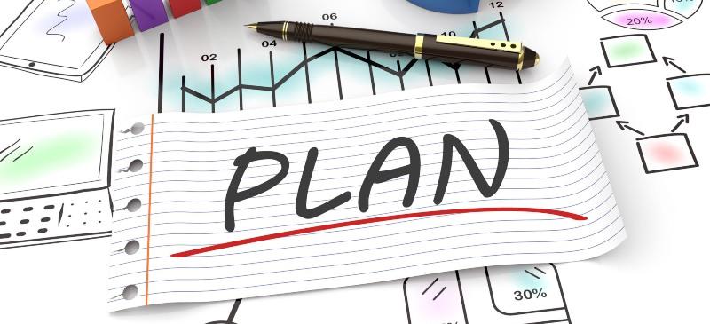 Infografía sobre la palabra plan rodeada de gráficos en los que se explica el plan general contable