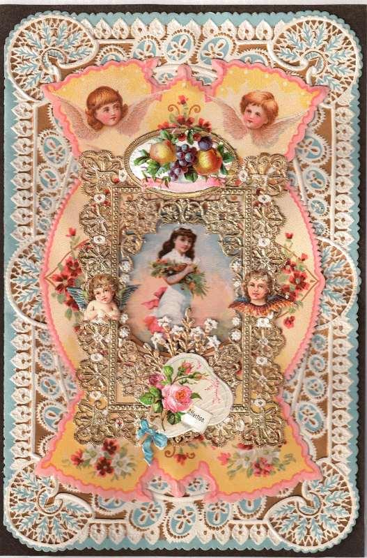 Tarjeta 'vintage' de San Valentín