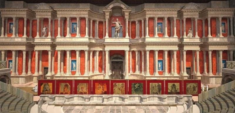 Teatro de Mérida. Infografía de reconstrucción.