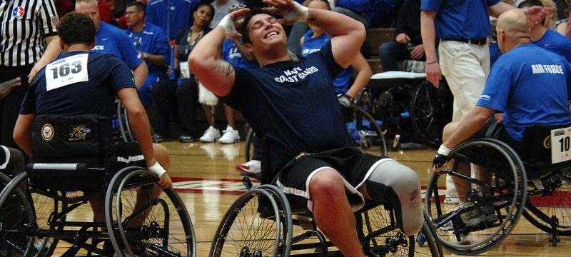 Jugadoras de baloncesto en silla de ruedas
