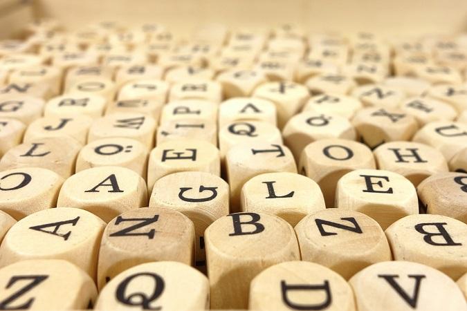 Letras en dado