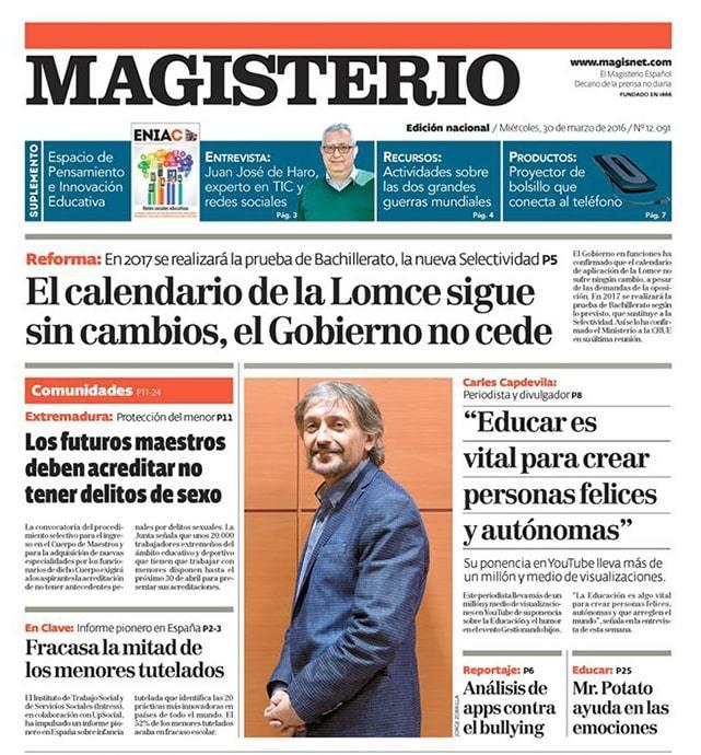 La Universidad Isabel I firma un convenio con el Grupo Siena, que permitirá que alumnos y profesores de Educación reciban gratuitamente el periódico Magisterio.