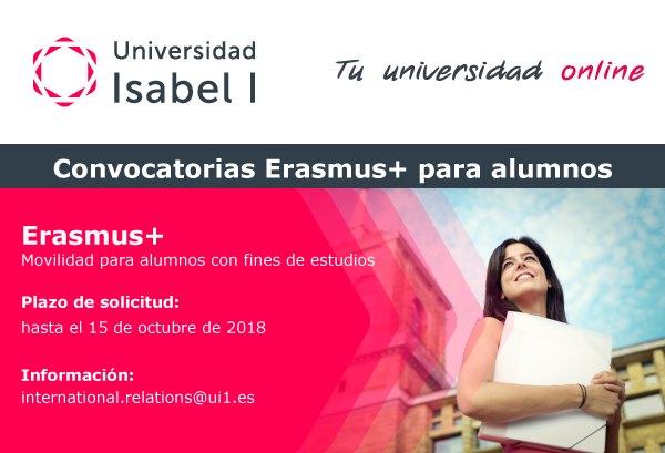 Convocatoria erasmus + movilidad estudiantes