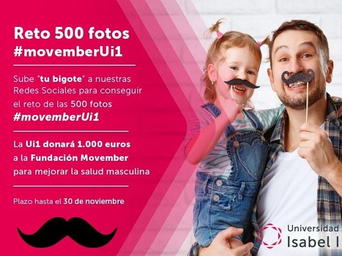La Universidad Isabel I donará 1.000 euros a la campaña 'Movember' de concienciación sobre la salud masculina