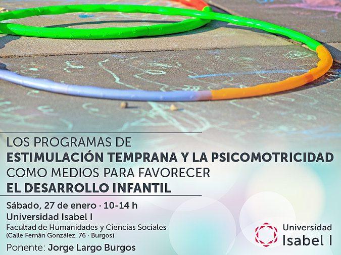 Jornada gratuita y abierta al público sobre estimulación temprana y psicomotricidad el 27 de enero en la Universidad Isabel I