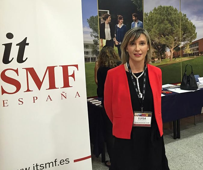 La directora del Grado de Informática de la Universidad Isabel I, Luisa Sanz, en el XI Congreso Académico Internacional en Gobierno y Gestión del Servicio de TI (ITGSM16).