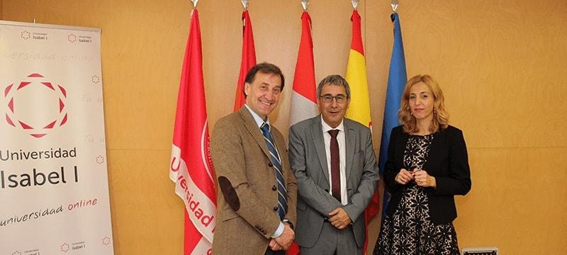 El nuevo director de la Agencia para la Calidad del Sistema Universitario de Castilla y León visita la Universidad Isabel I